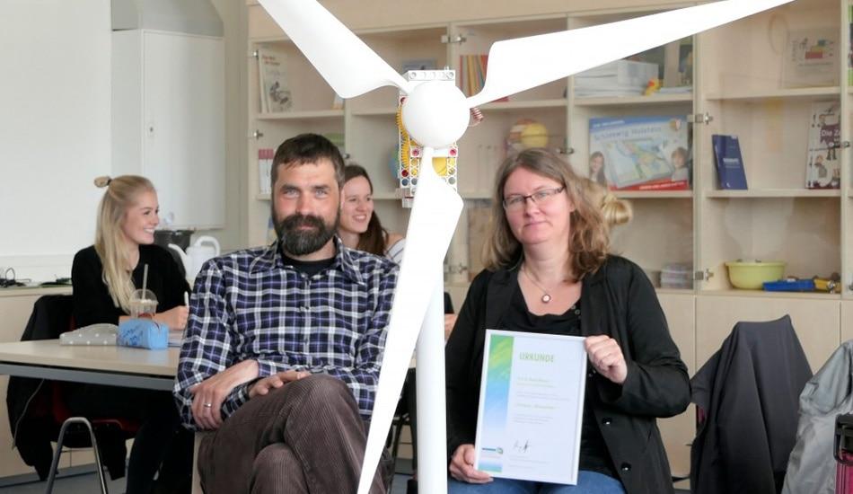 Urkunde Klimaschützer Prof. Blaeio