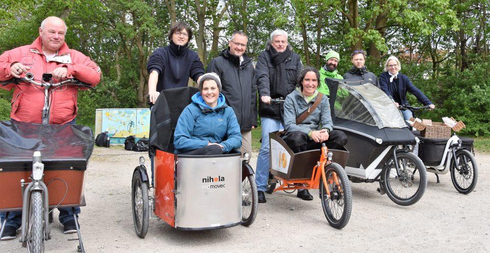 Buntes Treiben beim 1. Flensburger Lastenrad-Event