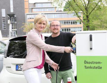 Drei neue E-Ladesäulen in Flensburg