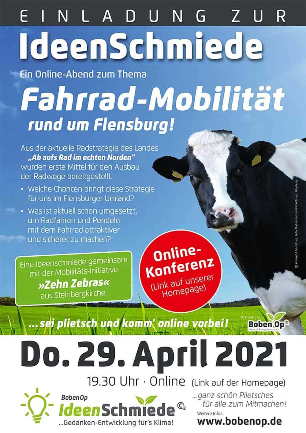 Online-Ideenschmiede BobenOp Fahrrad-Mobilität rund um Flensburg, 29.04.2021