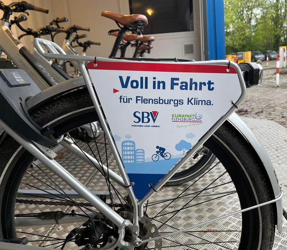 SBV unterstützt E-Bike-Sharing in Flensburg